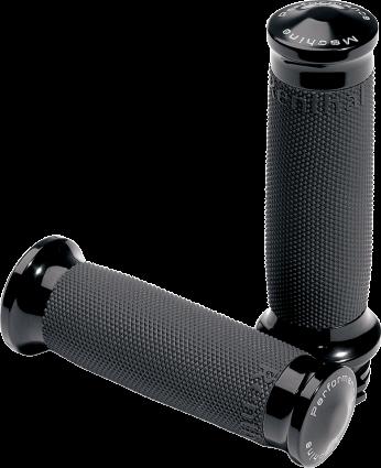 Performance Machine Black Contour Renthal Wrapped Grips (0063-2007-B, 0630-0375)