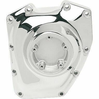Drag Specialties Chrome Cam Cover, 01-17 Harley Twin Cam (0940-0437)