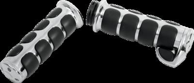 Kuryakyn Chrome Premium ISO-Grips TBW Electronic w/Throttle Boss, 08-Up Harley (6228, 0630-0453)