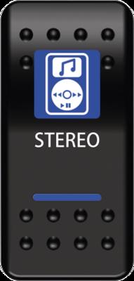 Moose Stereo Switch Rocker Blue (0616-0330)