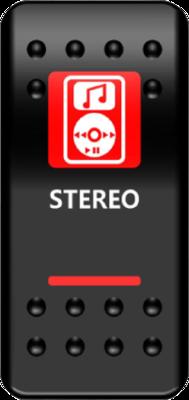 Moose Stereo Switch Rocker Red (2106-0448)
