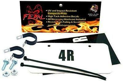 Feral ATV/UTV License Plate Kit White Composite (04202W)