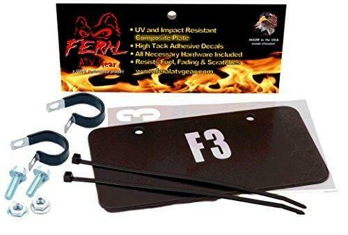Feral ATV/UTV License Plate Kit Black Composite (04202B)