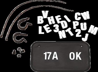 Hardline ATV/UTV License Plate Kit Black (2340B)