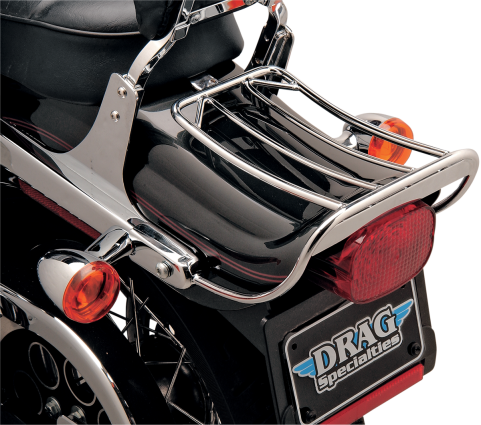 Drag Specialties Chrome Luggage Rack, 02-05 FXDWG (1916-0058)