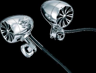 Kuryakyn Sound of Chrome Amplified Speakers, 1