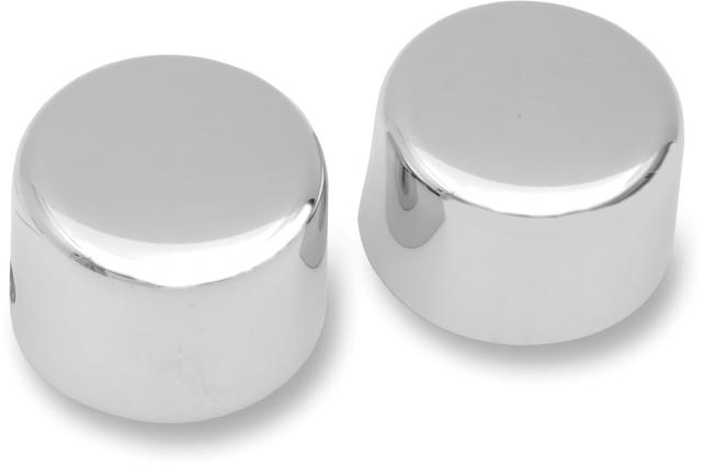 Drag Specialties Chrome Front Axle Caps, 72-84FL, 84-06ST (DS-222881)
