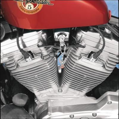 Drag Specialties Chrome Head Bolt Spark Plug Covers, 86-03XL (DS-305009)