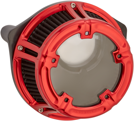 Arlen Ness Method Air Cleaner Red, 00-17 Twin Cam (18-172, 1010-2532)