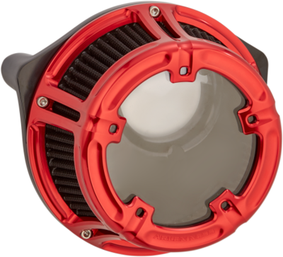 Arlen Ness Method Air Cleaner Red, 17-Up M8 (18-170, 1010-2530)
