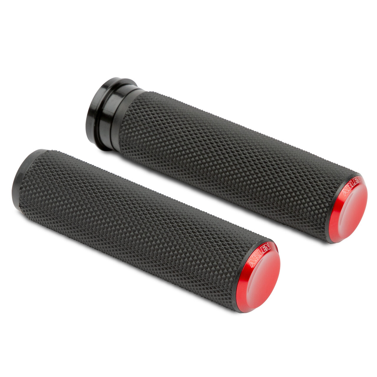 Arlen Ness Knurled Grips Red, TBW (07-346, 0630-2597)