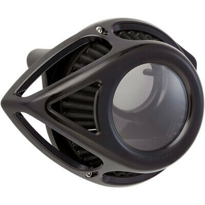 Arlen Ness Air Cleaner Clear Tear Black, 17-Up M8 (18-999, 1010-2561)