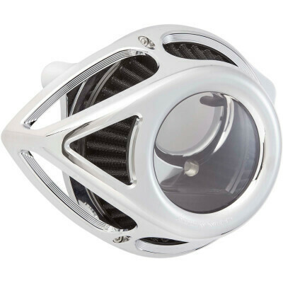 Arlen Ness Air Cleaner Clear Tear Chrome, 00-17 Twin Cam (18-978, 1010-2556)