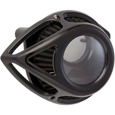 Arlen Ness Air Cleaner Clear Tear Black, 00-17 Twin Cam (18-979, 1010-2557)