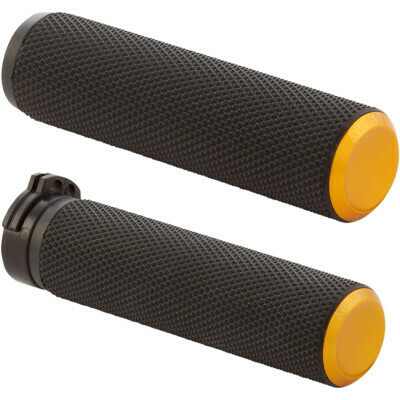 Arlen Ness Knurled Grips Gold, Cable (07-337, 0630-2595)