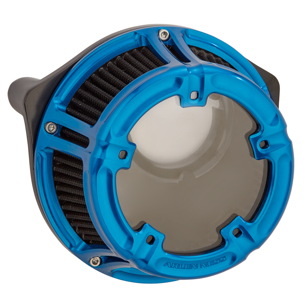 Arlen Ness Method Air Cleaner Blue, 08-16 FLT (18-181, 1010-2539)