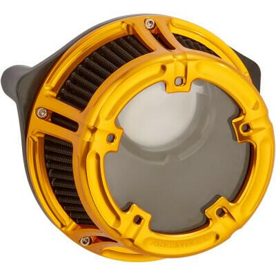 Arlen Ness Method Air Cleaner Gold, 08-16 FLT (18-176, 1010-2535)