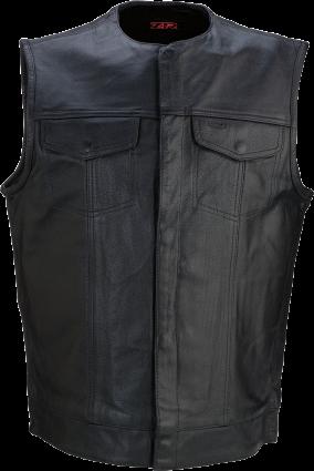 Z1R Motorcycle Vest Black Leather 338 3XLarge (2830-0359)