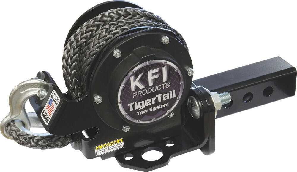 "KFI Tiger Tail 12' Tow Rope System ATV/UTV 1.25"" Receiver Hitch Retractable (101105, 30-1105)"