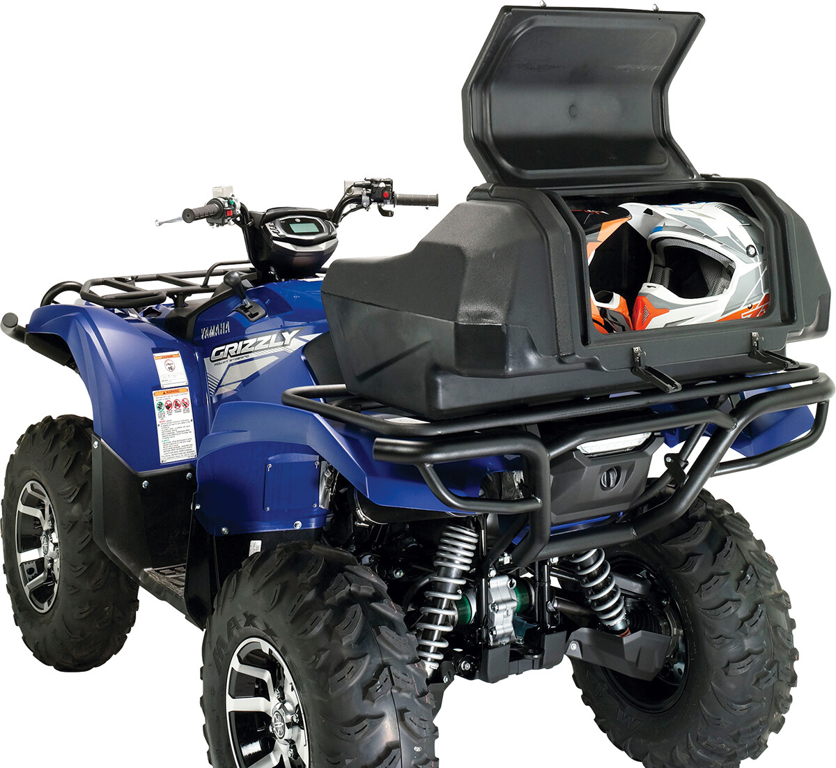 Moose ATV Rear Seat w/Helmet Storage, CFMOTO, Polaris Universal Trunk Box (3505-0206)