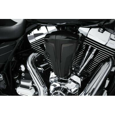 Ciro Cipher Black Carbon Air Cleaner Kit, 08-17 Harley Touring (35102, 1010-1872)