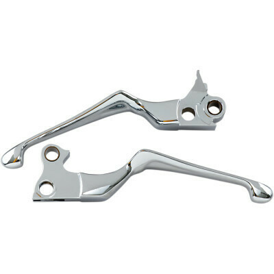Kuryakyn Chrome Boss Blade Levers, 96-17 Harley Cable Clutch (1038, 0617-0067)