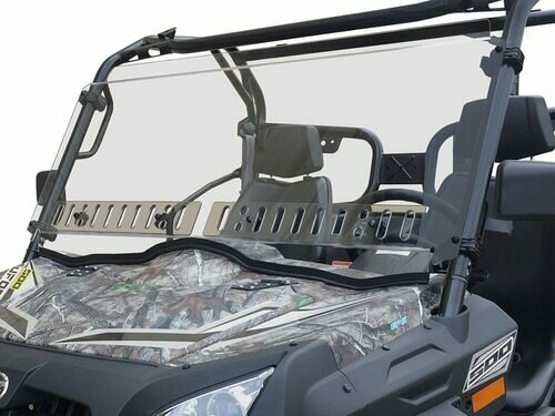 Spike CFMOTO UFORCE 500/800 Full Windshield w/Vent, Scratch Resistant (77-3100, 63-1127)
