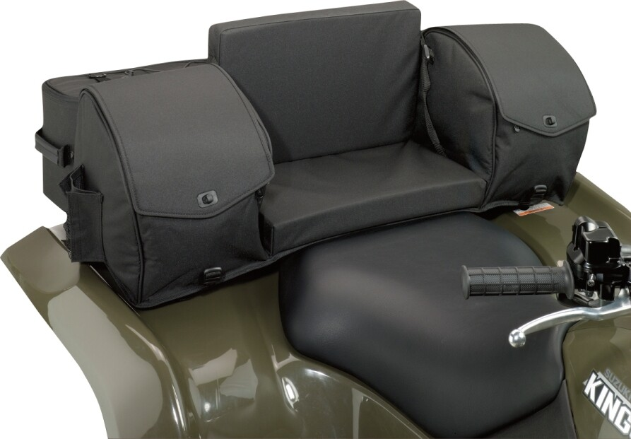 Moose ATV Ridgetop Rear Seat Universal Soft Bag, Black (3505-0214)