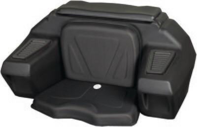 Kolpin ATV Rear Seat w/Helmet Storage, Universal Trunk Box (4438, 61-4438)