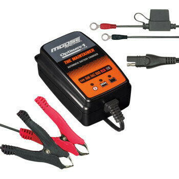 Moose Battery Charger/Maintainer, ATV/UTV Universal Optimate 1 Duo (3807-0502)
