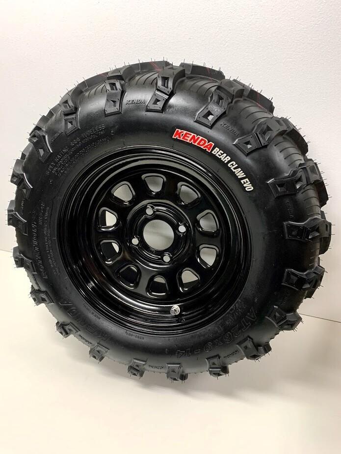 CFMOTO ZFORCE/UFORCE Spare Tire & Wheel, Kenda 26x9-14, ITP 14x7 - 4/110