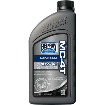 10W-40 Bel-Ray Mineral MC-4T Engine Oil Liter (99401-BT1LA, 3601-0638)