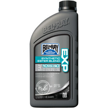 10W-40 Bel-Ray Synthetic Ester Blend 4T Engine Oil Liter (99120-B1LW, 3601-0152)