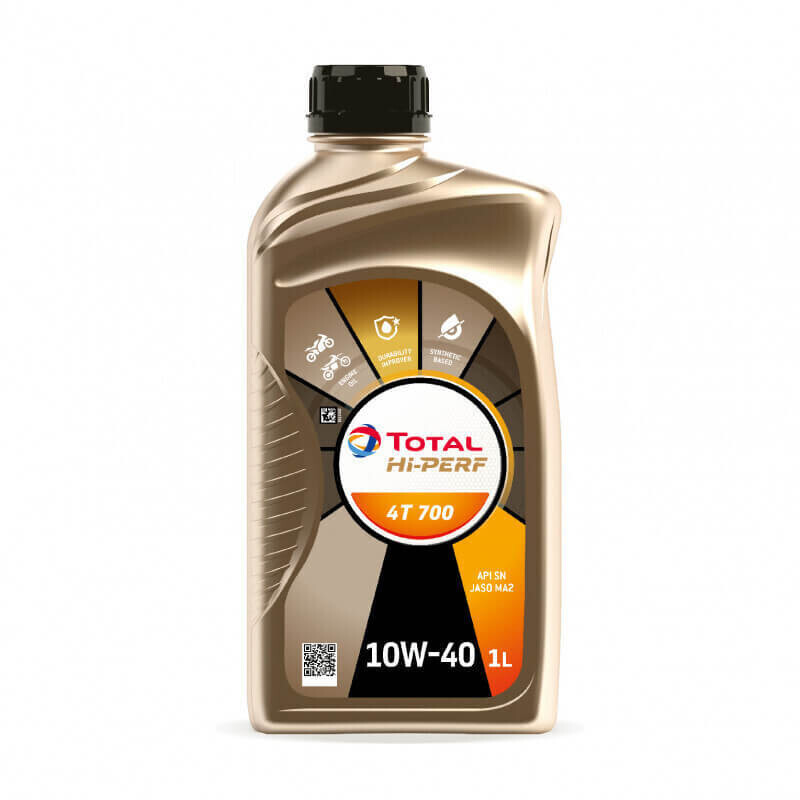 10W-40 CFMOTO Total Hi-Perf Synthetic Blend 4T 700 Engine Oil Liter (215734)