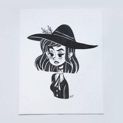 Witch - Inktober Original 2017