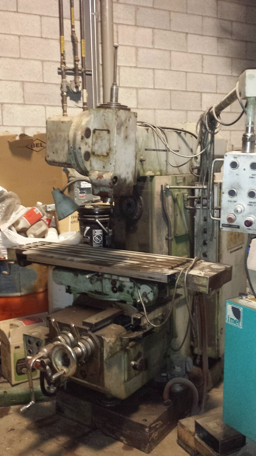 """JAFO Milling Machine with Table 12""""1/2 x 59""""1/2"""