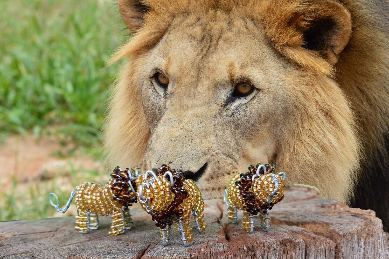 Kleine Kunstwerke aus Namibia - Löwe