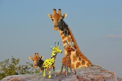 Kleine Kunstwerke aus Namibia - Giraffe
