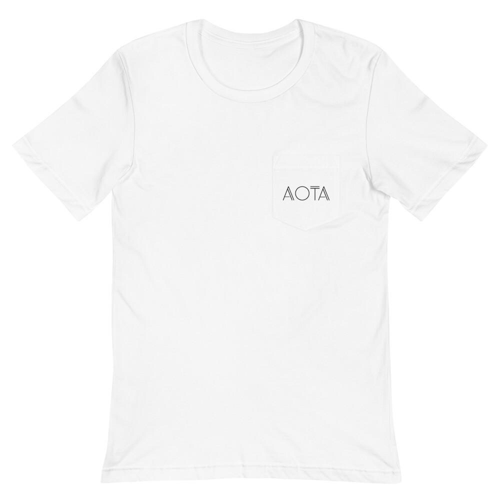AOTA Unisex Pocket T-Shirt - White