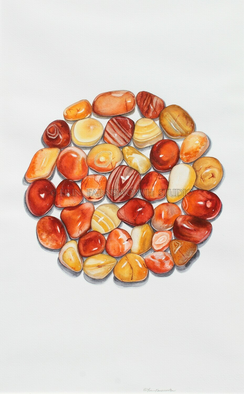"""Carnelian Agate Circle"" 8.5x11 print"