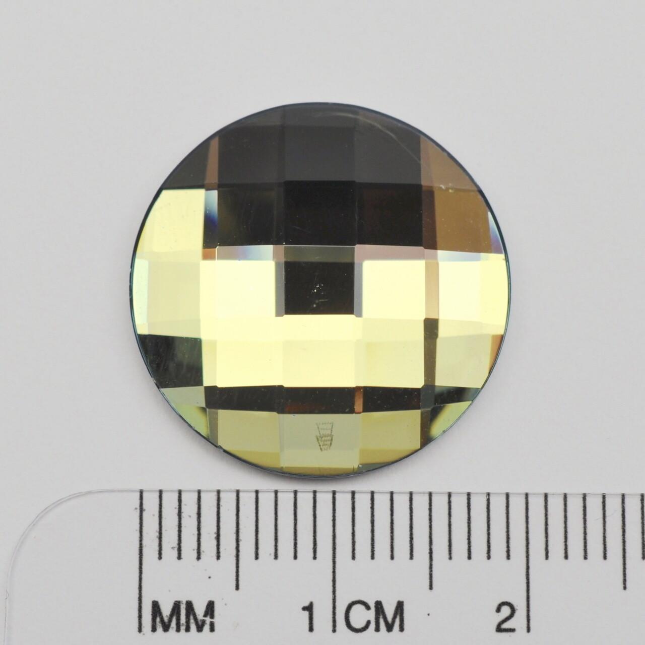 #2035 Crystal Sage Chessboard Circle 20mm (2 pcs)