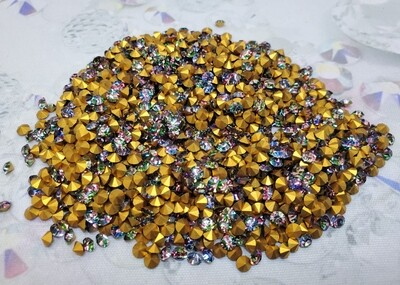 IRIS Gold pp18 Vintage Striped Swarovski crystals