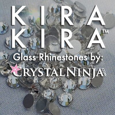 Luminous Light Green Variety- KiraKira Glass Rhinestones by CrystalNinja