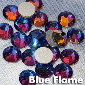 Blue Flame - KiraKira Glass Rhinestones by CrystalNinja