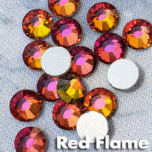 Red Flame - KiraKira Glass Rhinestones by CrystalNinja