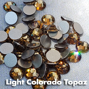 Light Colorado Topaz - KiraKira Glass Rhinestones by CrystalNinja