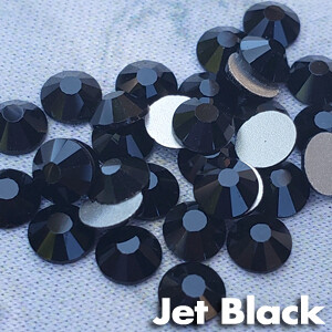 Jet Black - KiraKira Glass Rhinestones by CrystalNinja