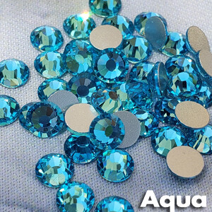 Aqua - KiraKira Glass Rhinestones by CrystalNinja