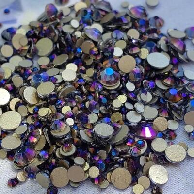 Purple Flame - KiraKira Glass Rhinestones by CrystalNinja