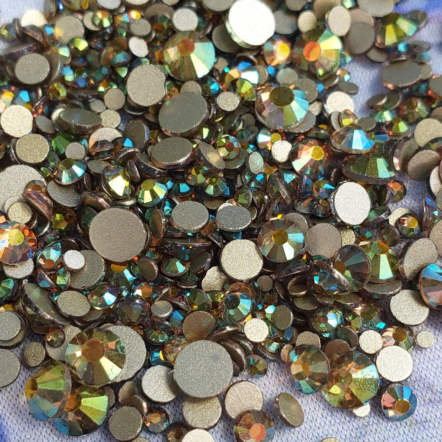 Green Starry - KiraKira Glass Rhinestones by CrystalNinja